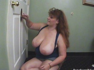 Redhead BBW loves magnificence holes