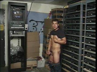 Two jocks in the stockroom