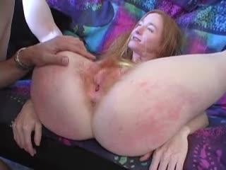 True redhead with hairy pussy fucked hard